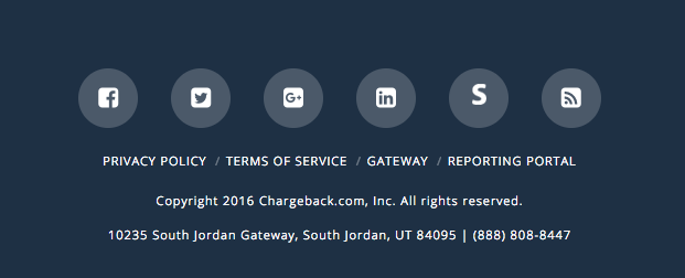 Chargeback Footer