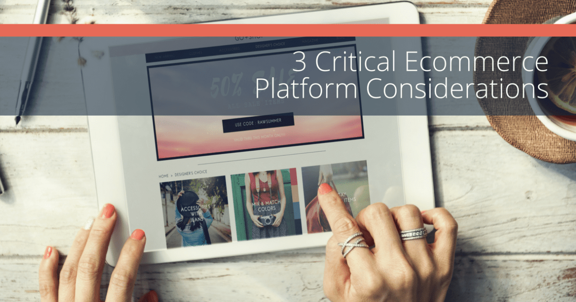 Choosing an ecommerce platform
