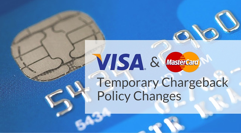 Visa MasterCard Chargeback Policy Changes